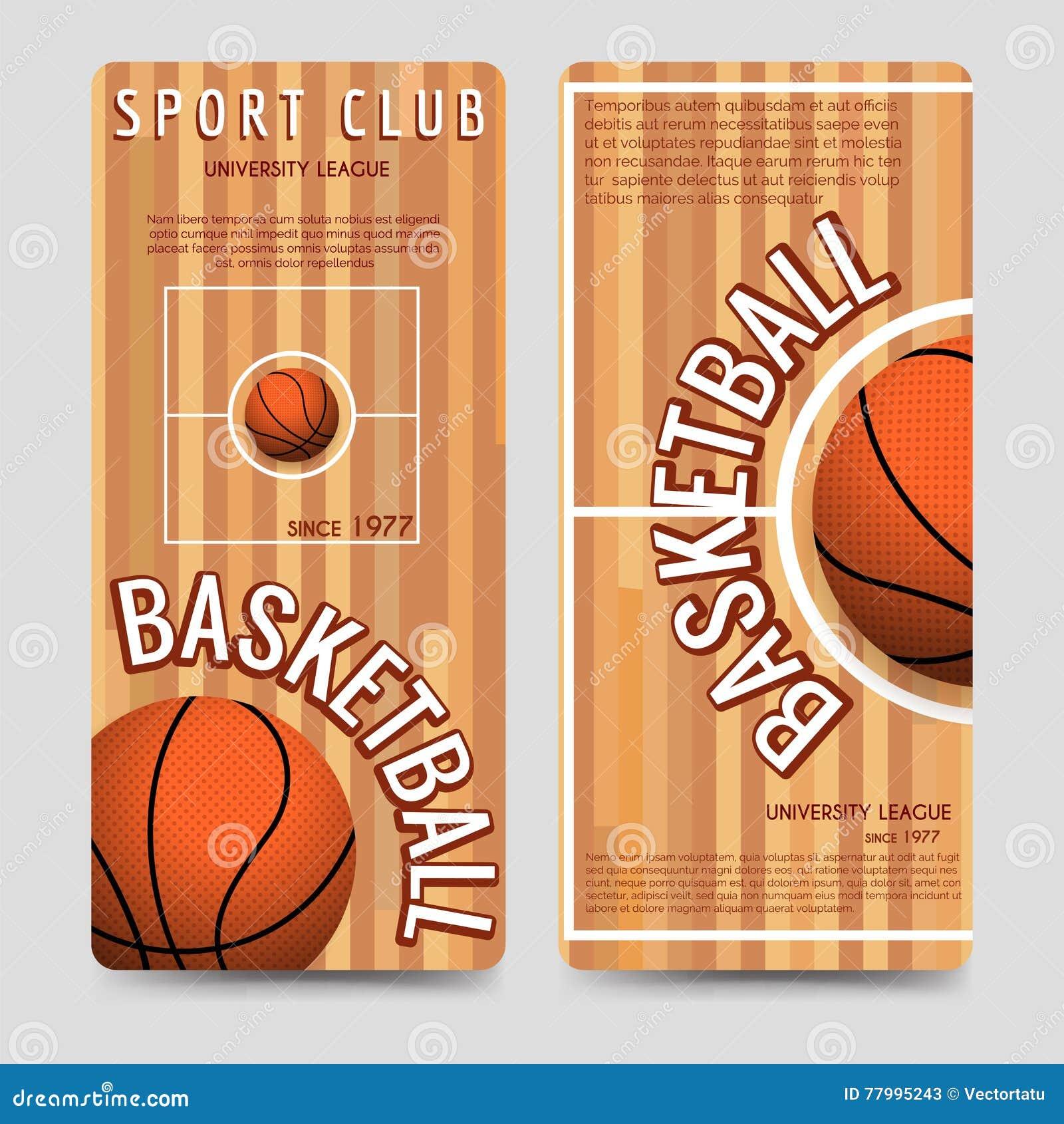 Mall för reklamblad för basketsportklubba