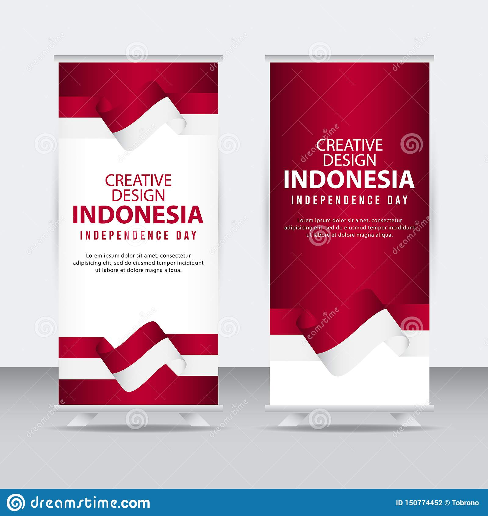 Mall för vektor för illustration för design Indonesien för oberoende dagaffisch idérik