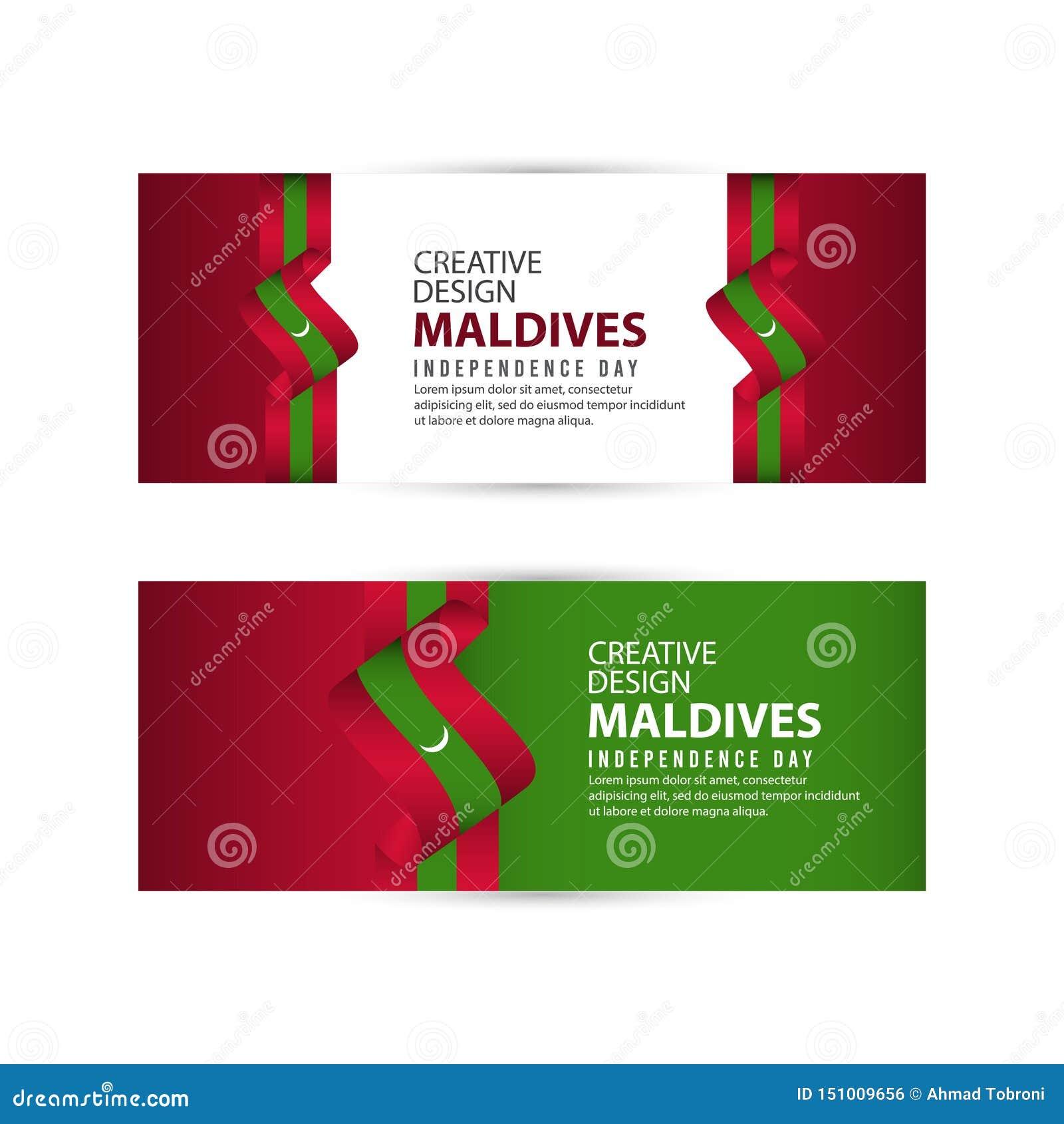 Mall för vektor för illustration för design för Maldiverna självständighetsdagenberöm idérik