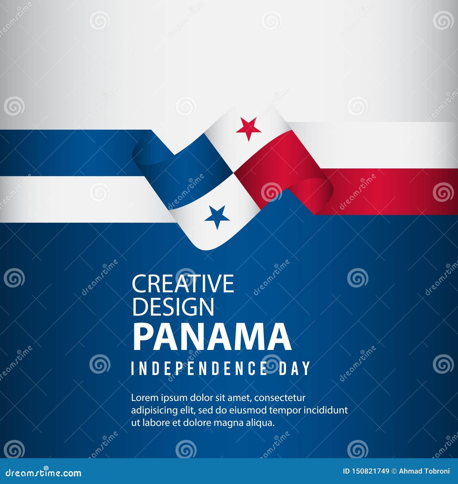 Mall för vektor för illustration för design Panama för oberoende dagaffisch idérik