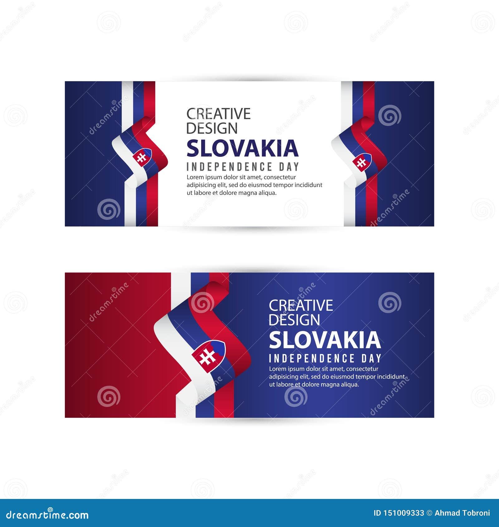 Mall för vektor för illustration för design för Slovakien självständighetsdagenberöm idérik