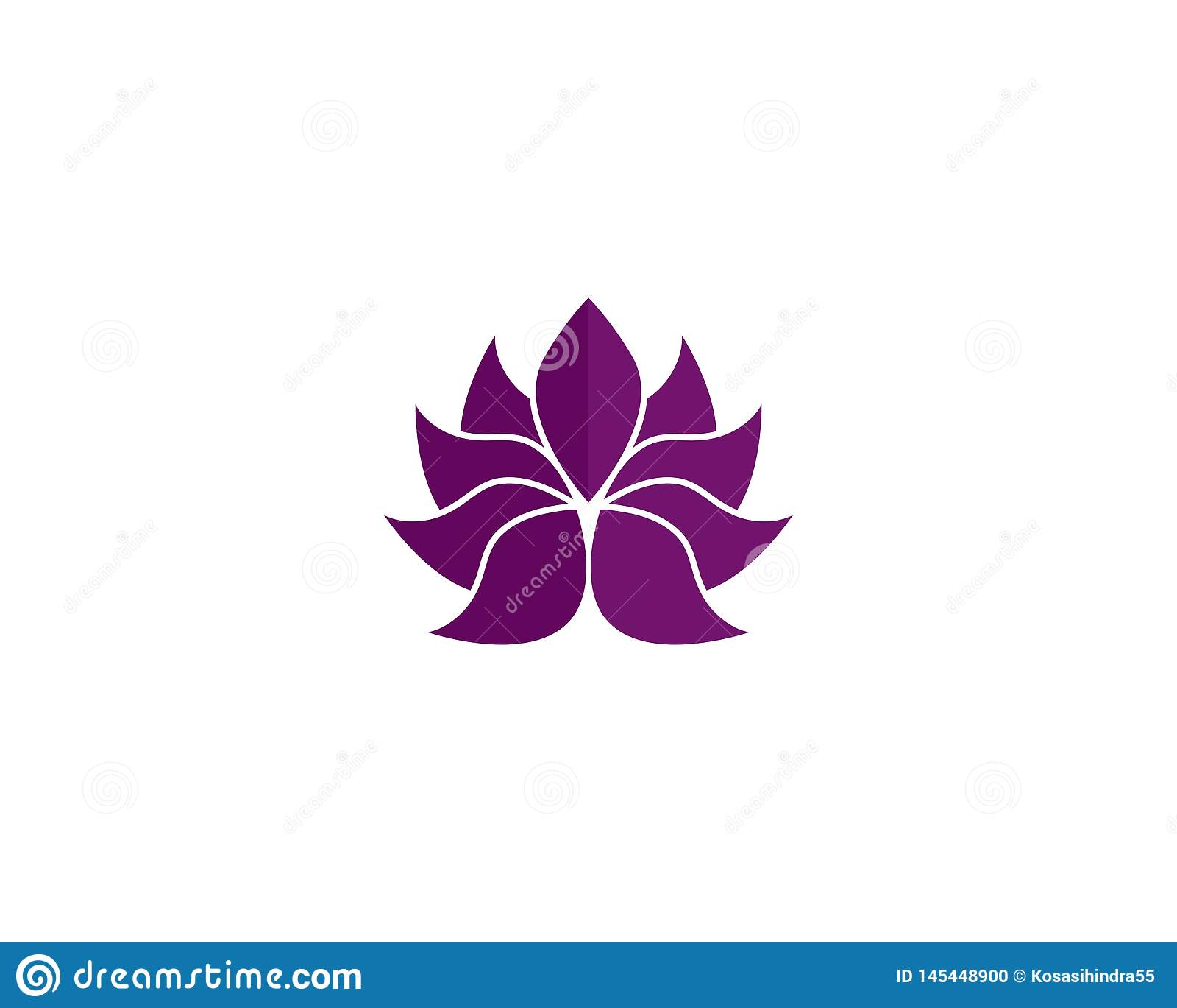 Mall f?r logo f?r design f?r sk?nhetvektorLotus blommor