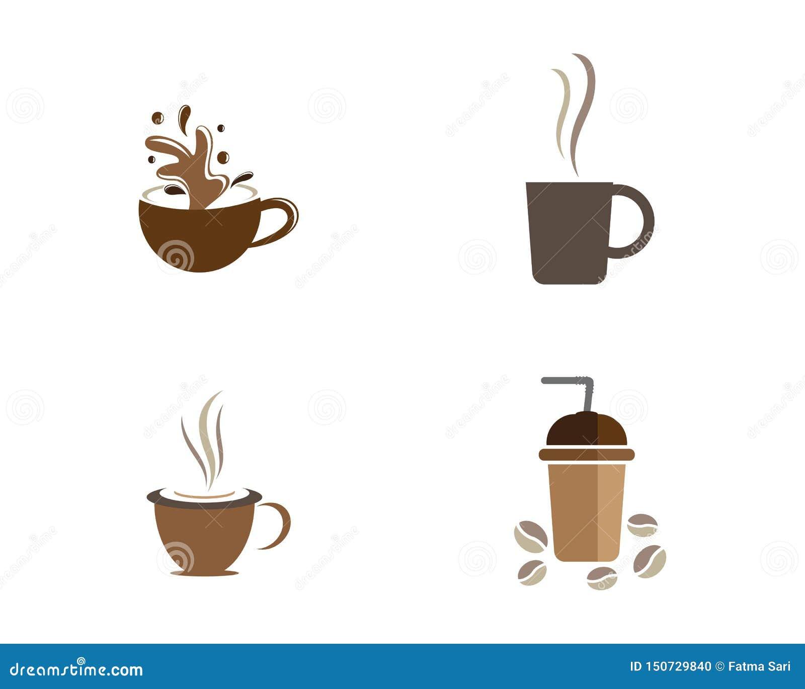 Mall f?r logo f?r kaffekopp
