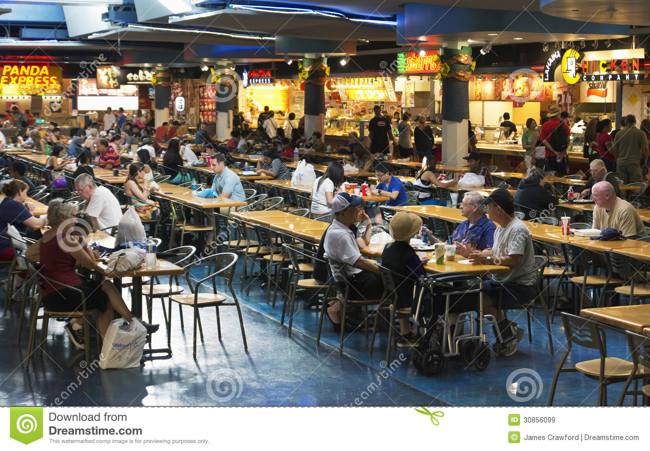 Mall Food Court Editorial Stock Image Image Of Shopping