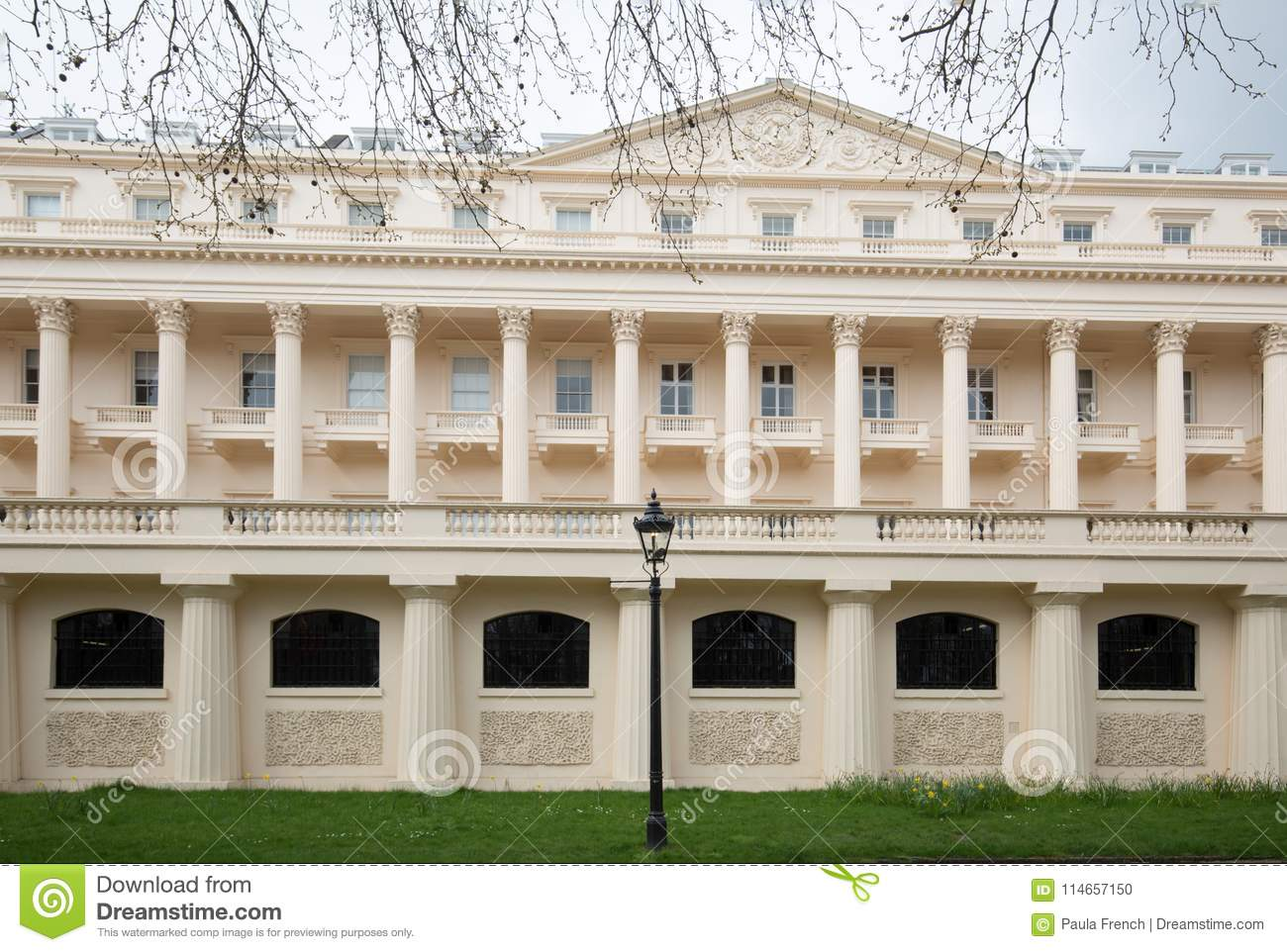 Carlton House Terrace On The Mall In London, Stock Photo ...