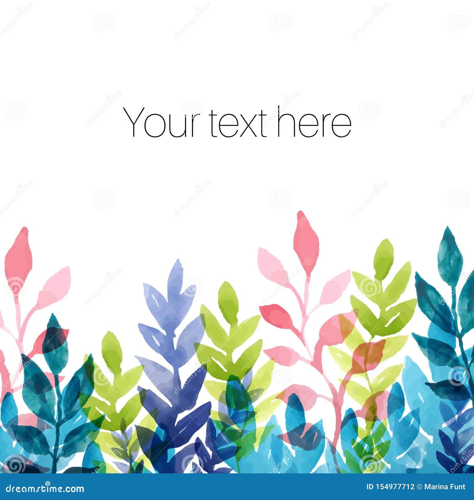 Mall med vattenfärgblommor och växter vektor f?r ro f?r illustration f?r bukettdekor blom- extra h?stkortformat