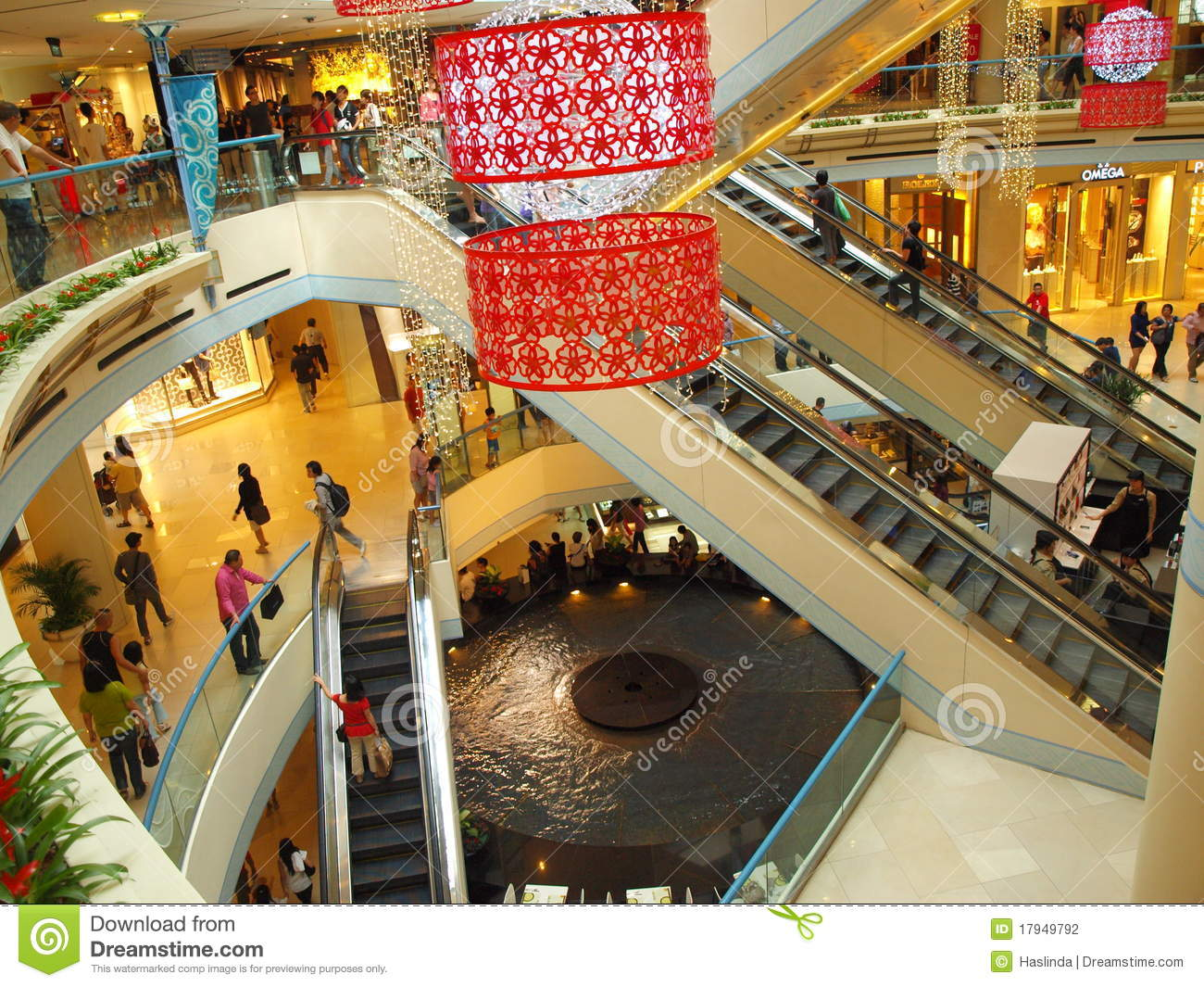 Mall shopping for chinese new year editorial photography for Shopping in cina
