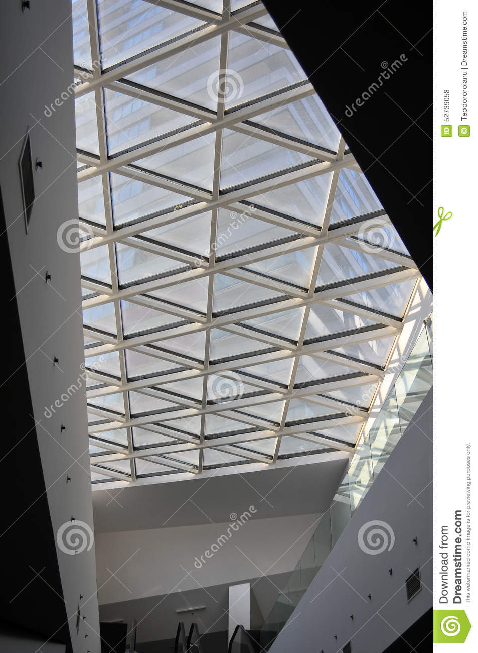 Skylight Design Mall Skylight Design Stock Photo  Image 52739058