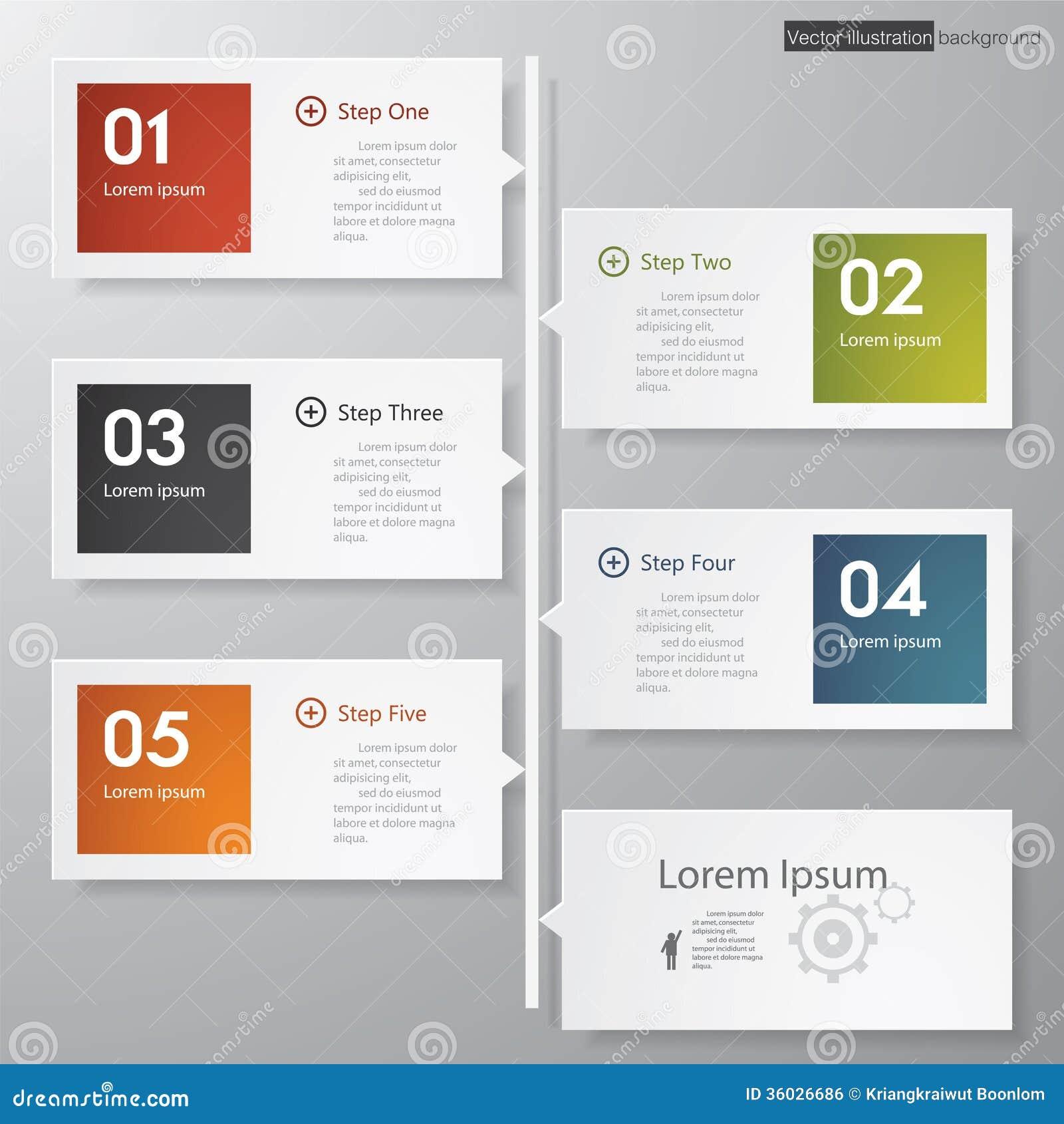 Mall/timeline för baner för designrengöringnummer.