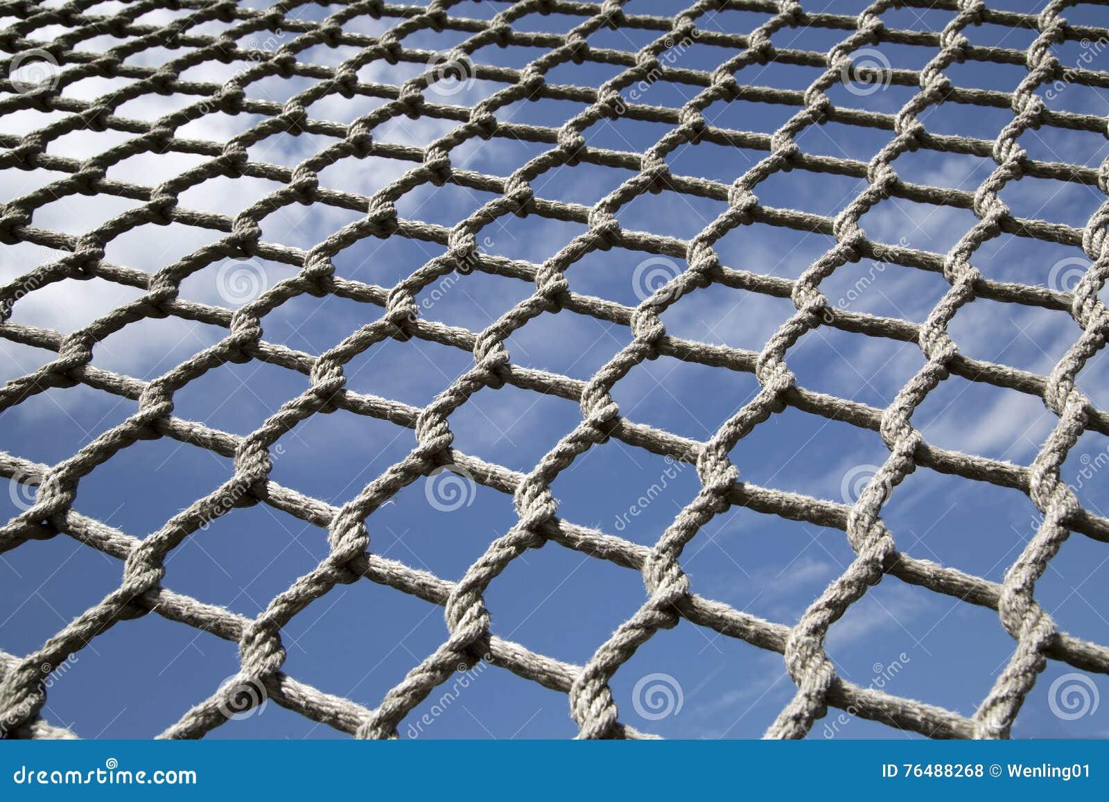malla hecha de cuerda del camo foto de archivo
