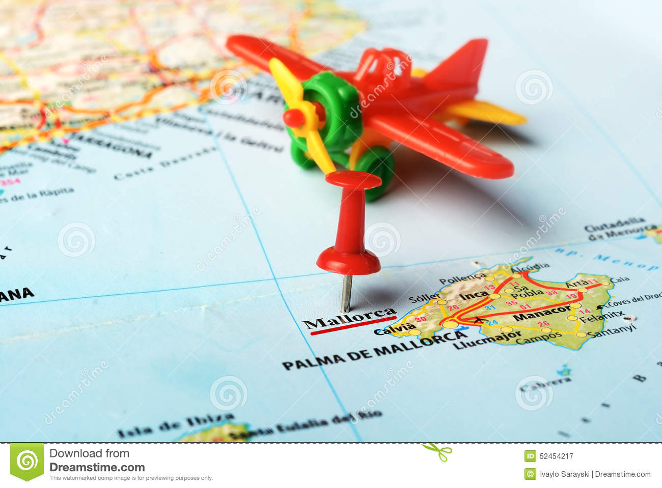 Map Of Spain Majorca.Mallorca Island Spain Map Airplane Stock Image Image Of Island