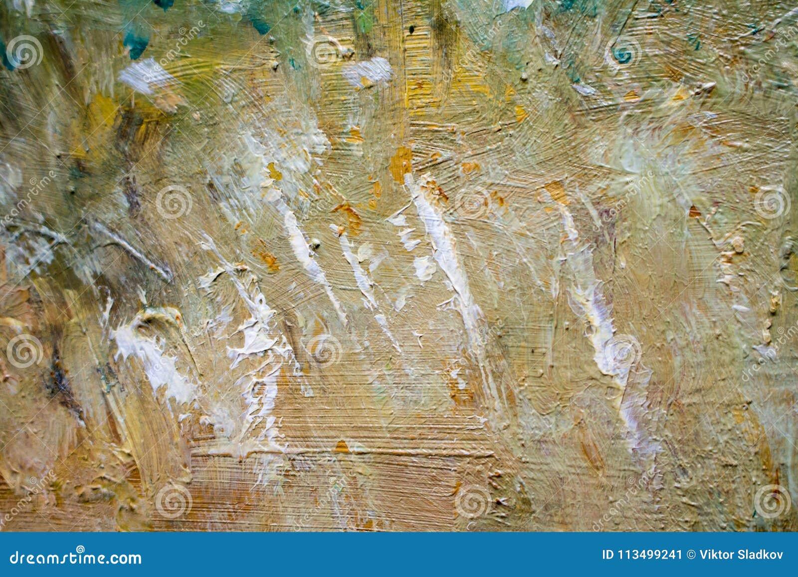 Malować z olejami na kanwie dla tła ważny uderzenie