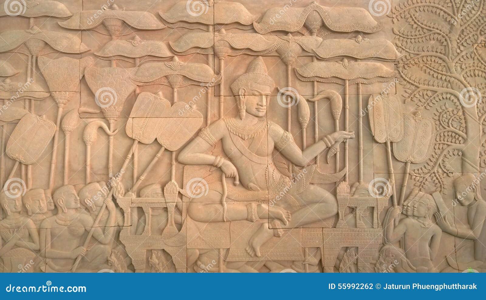 Malowidło ścienne obraz w Angkor Wat, siemreap Cambodia