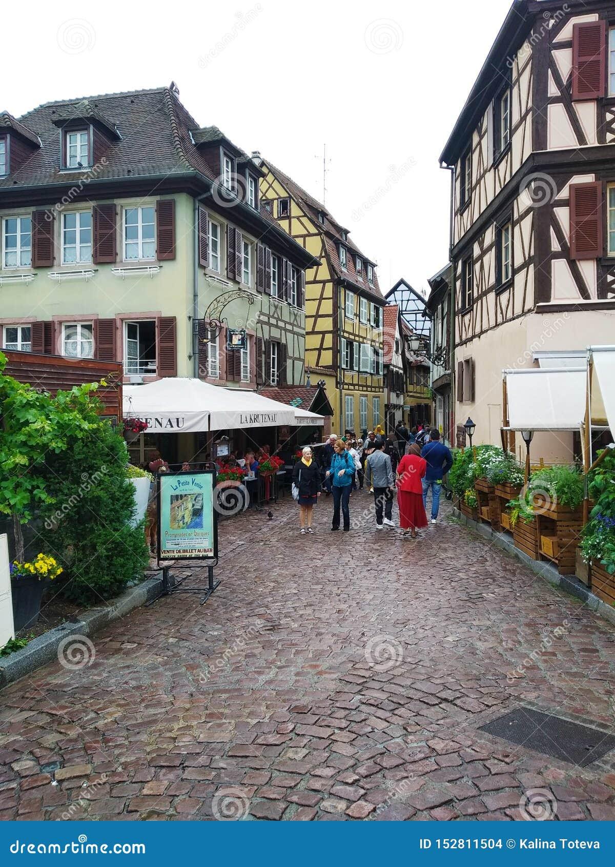 Malownicze aleje Colmar, Alsace, Francja