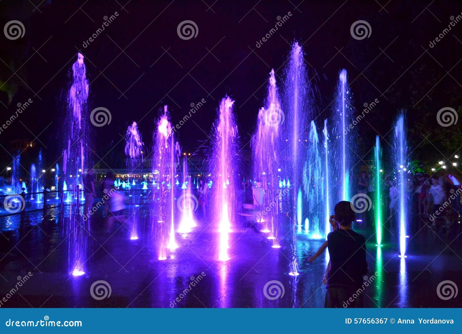 Malownicze nocy fontanny, Plovdiv