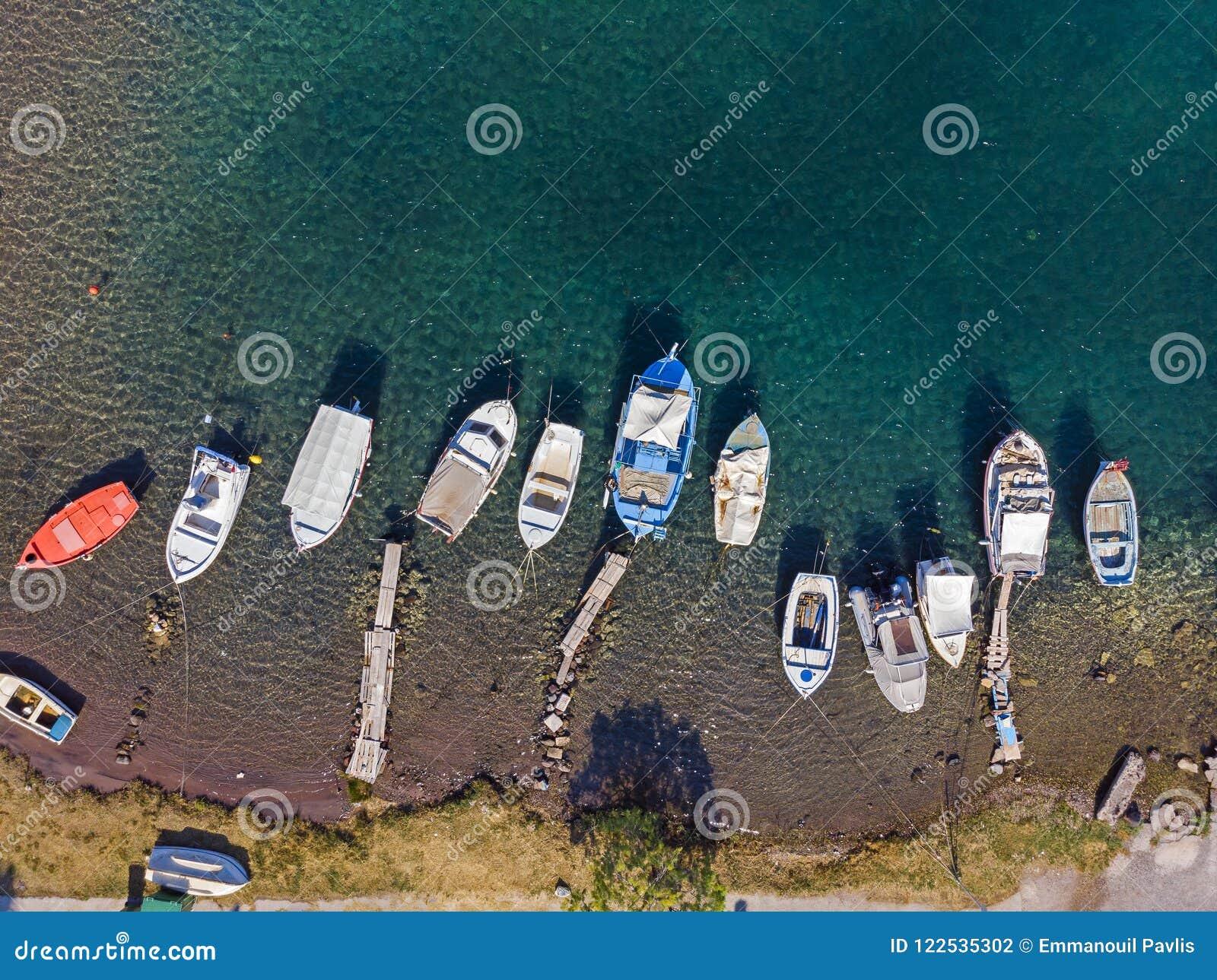 Malowniczy schronienie od above, Grecja