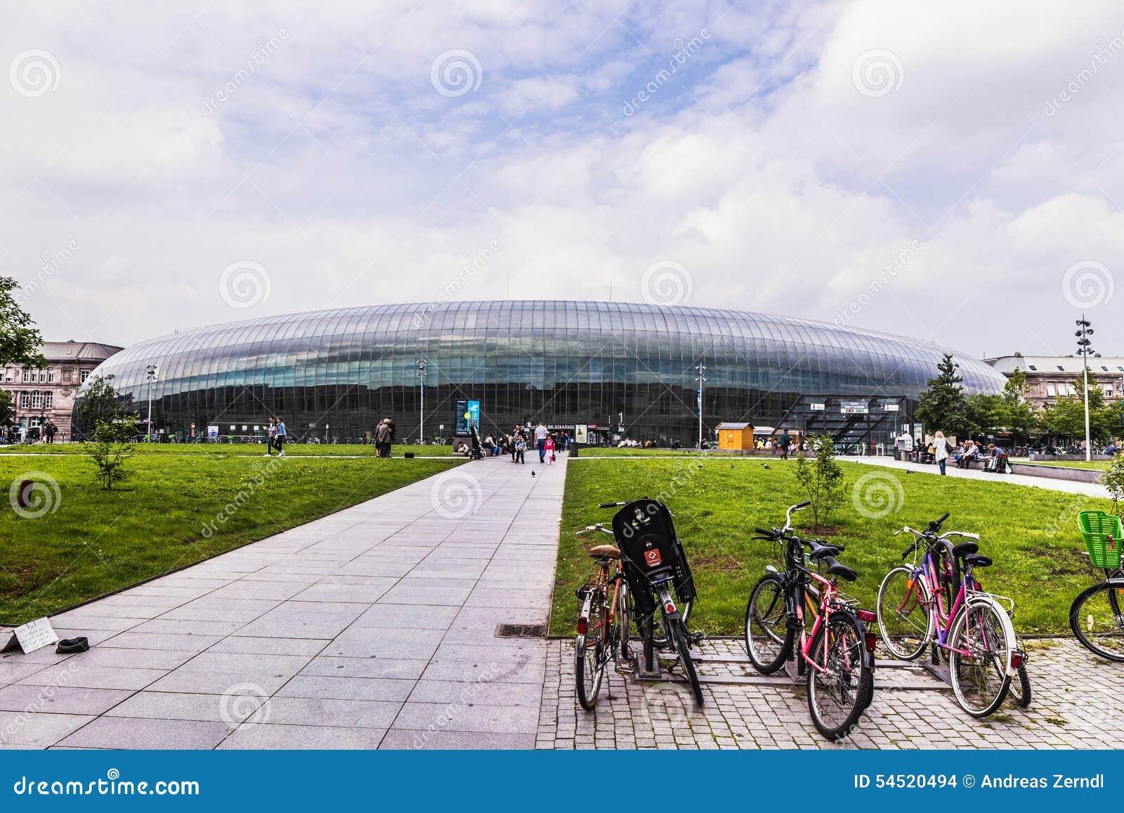 Malowniczy Strasburg, Francja w Europa Dworzec