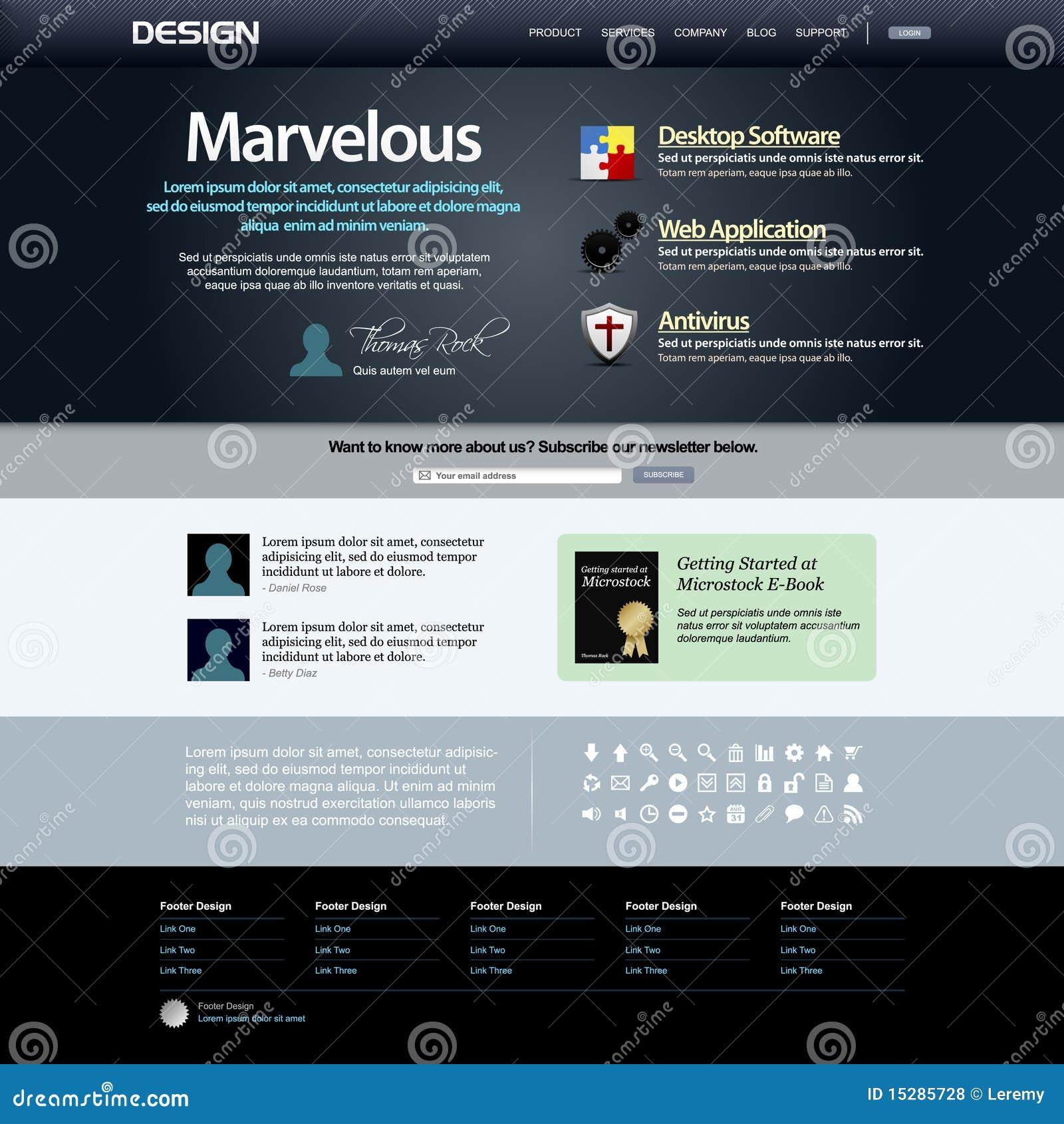 Malplaatje 8 van het Ontwerp van het Web (Donker Thema) Vector
