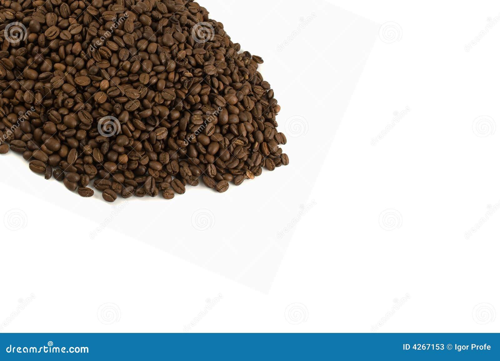Malplaatje met Geïsoleerdet koffiebonen