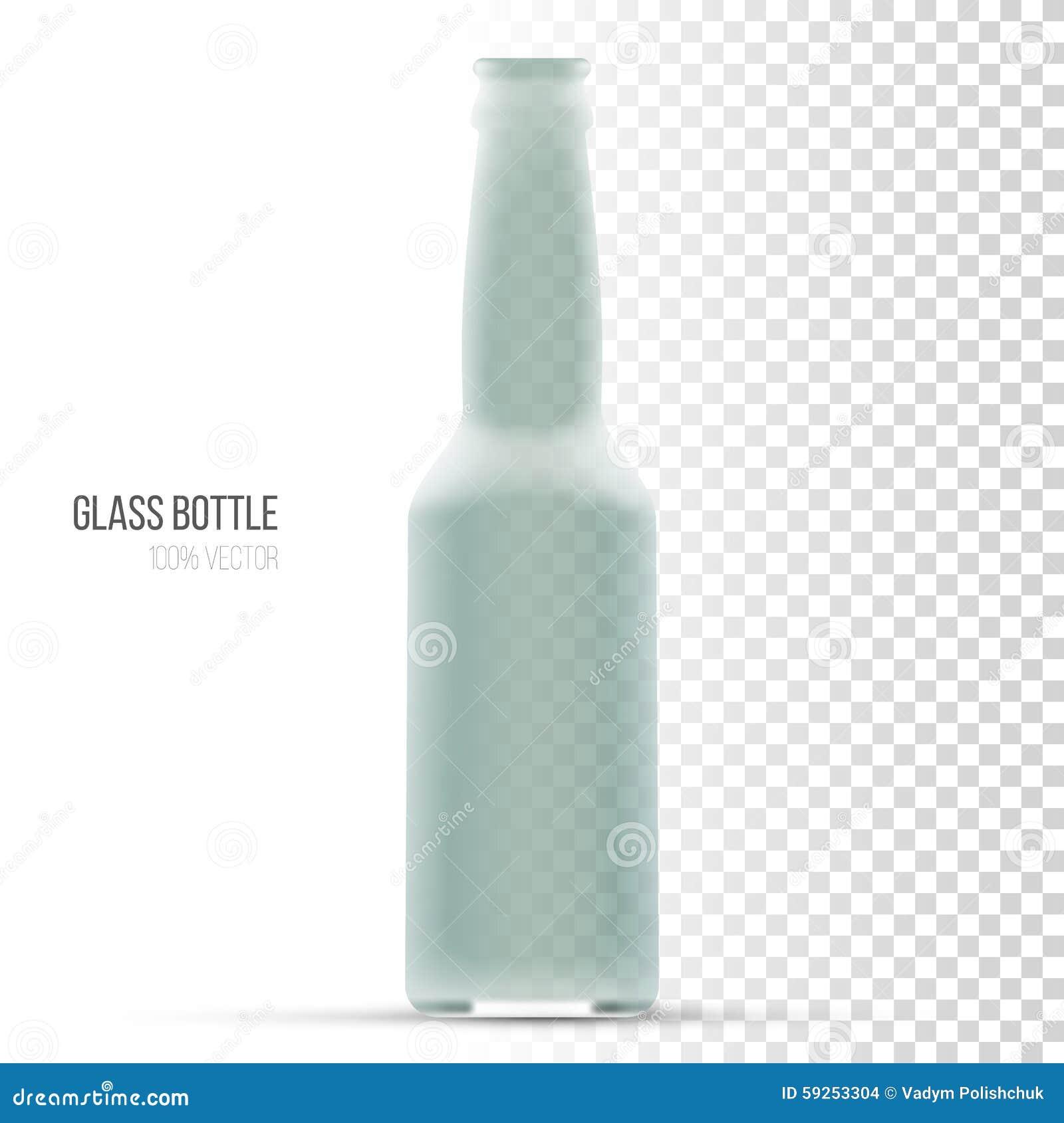 Malplaatje van glasflessen voor vloeistof