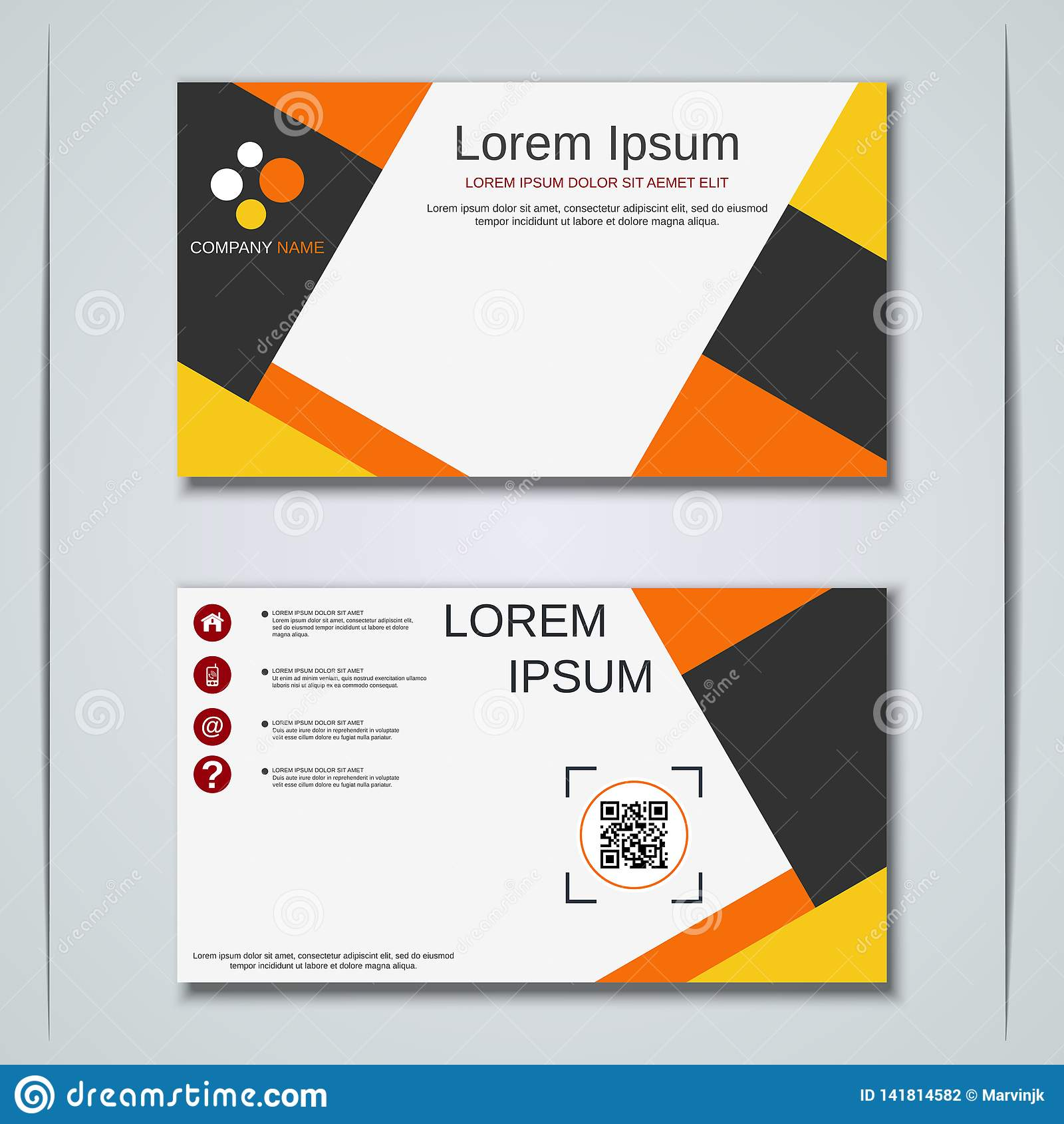 Malplaatje van het bedrijfsvisitekaartje het vectorontwerp