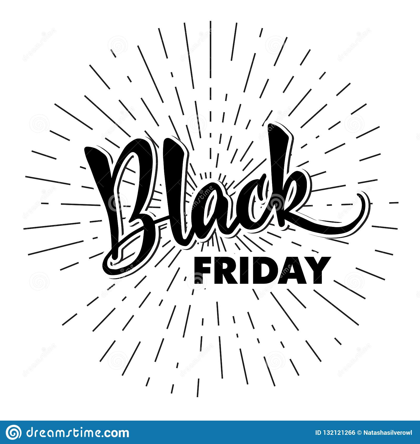 Malplaatje van het handlettering Black Friday Moderne kalligrafie voor