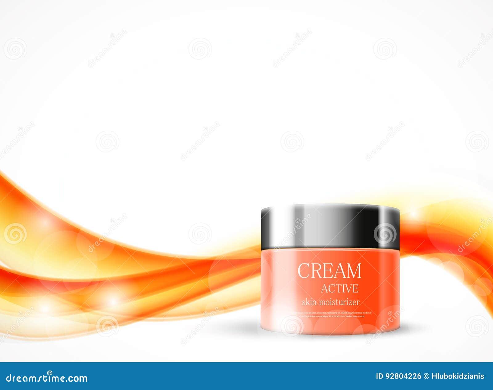 Malplaatje van lichaamscrème het kosmetische advertenties
