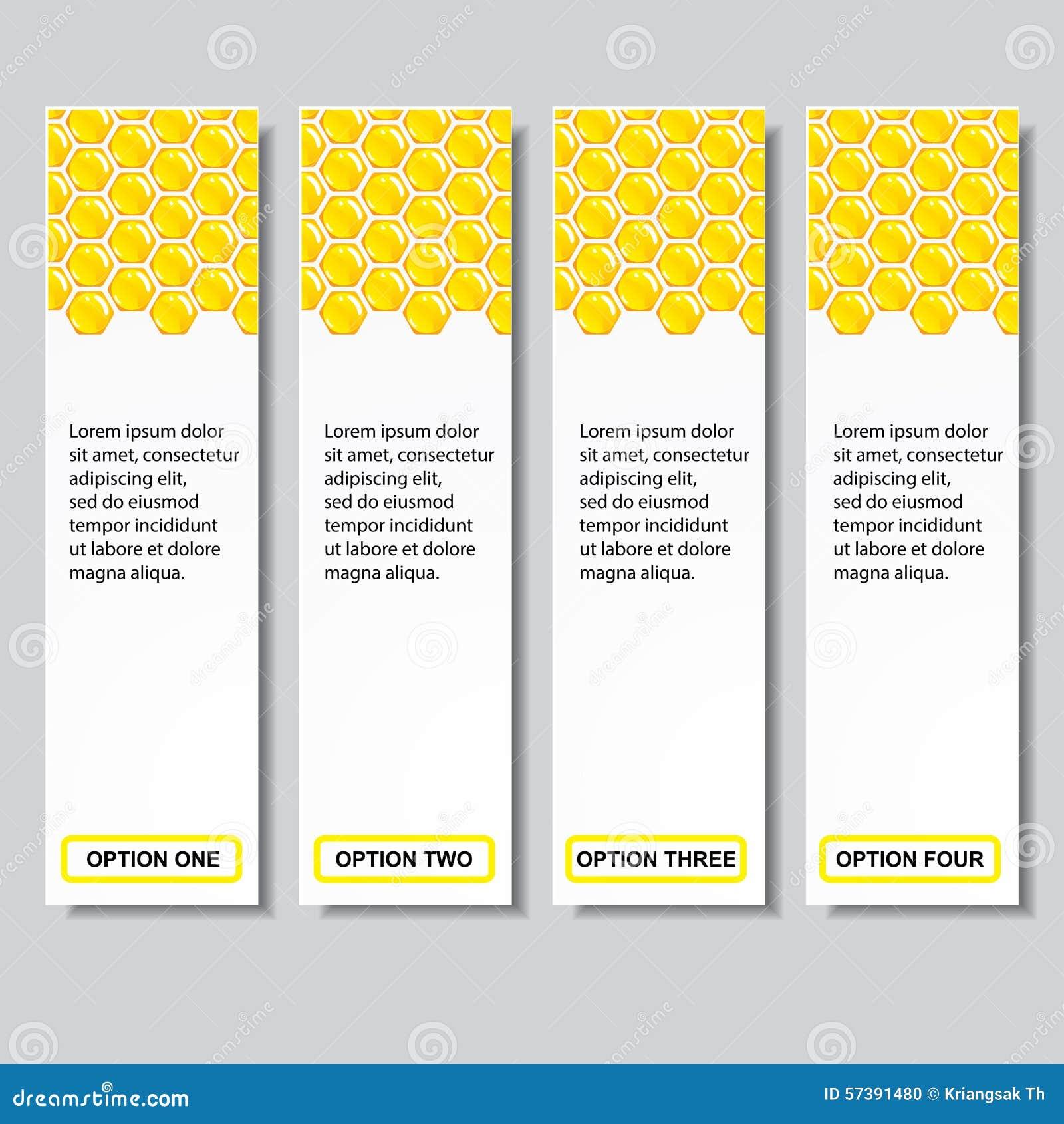 Malplaatje van van het bedrijfs bijenkorf het moderne ontwerp aantalbanners of websitelay-out Informatie-grafiek Vector