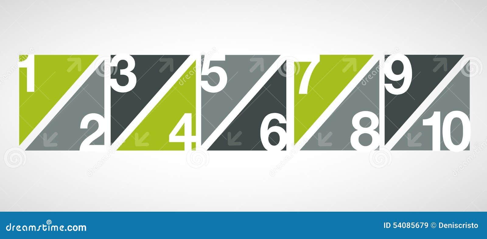 Malplaatje voor reclamefolder met aantallen