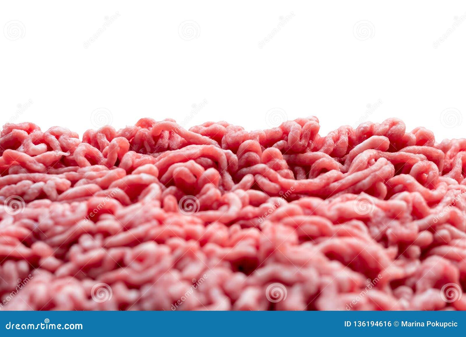 Malt kött, griskött och nötkött med vit bakgrund