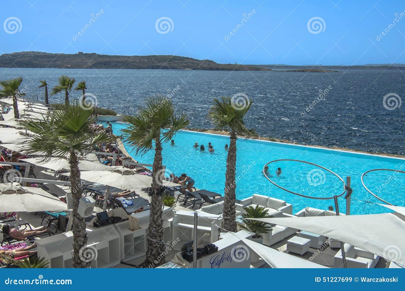 Malta coastline view editorial stock image image 51227699 for Pool design malta