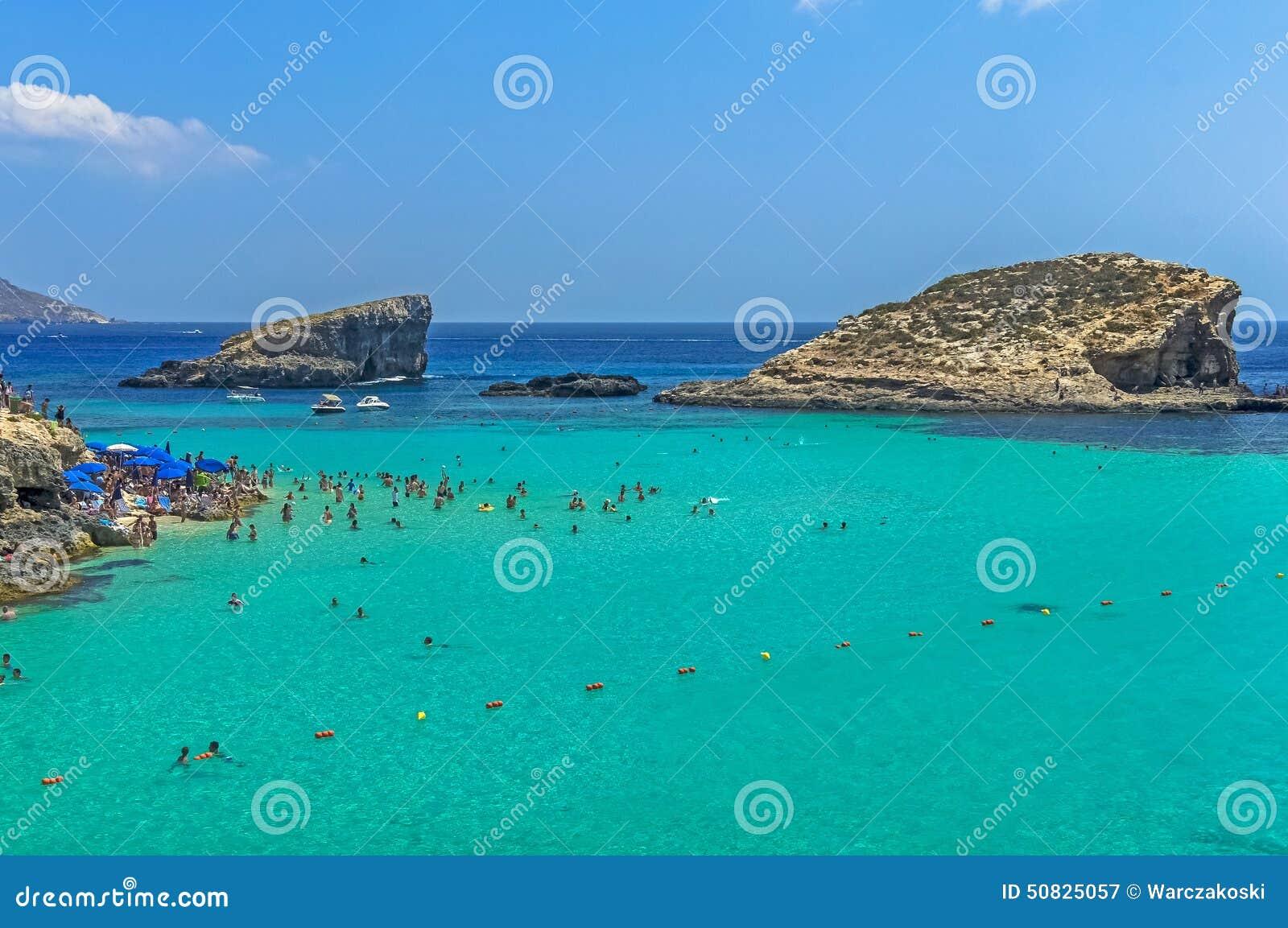 blå lagunen malta karta