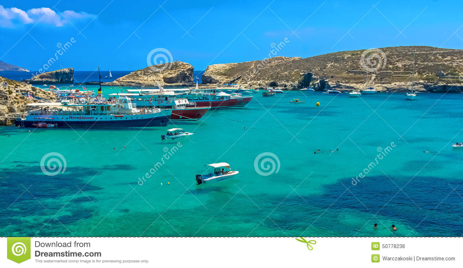 malta comino blaue lagune redaktionelles stockfoto bild 50778238. Black Bedroom Furniture Sets. Home Design Ideas