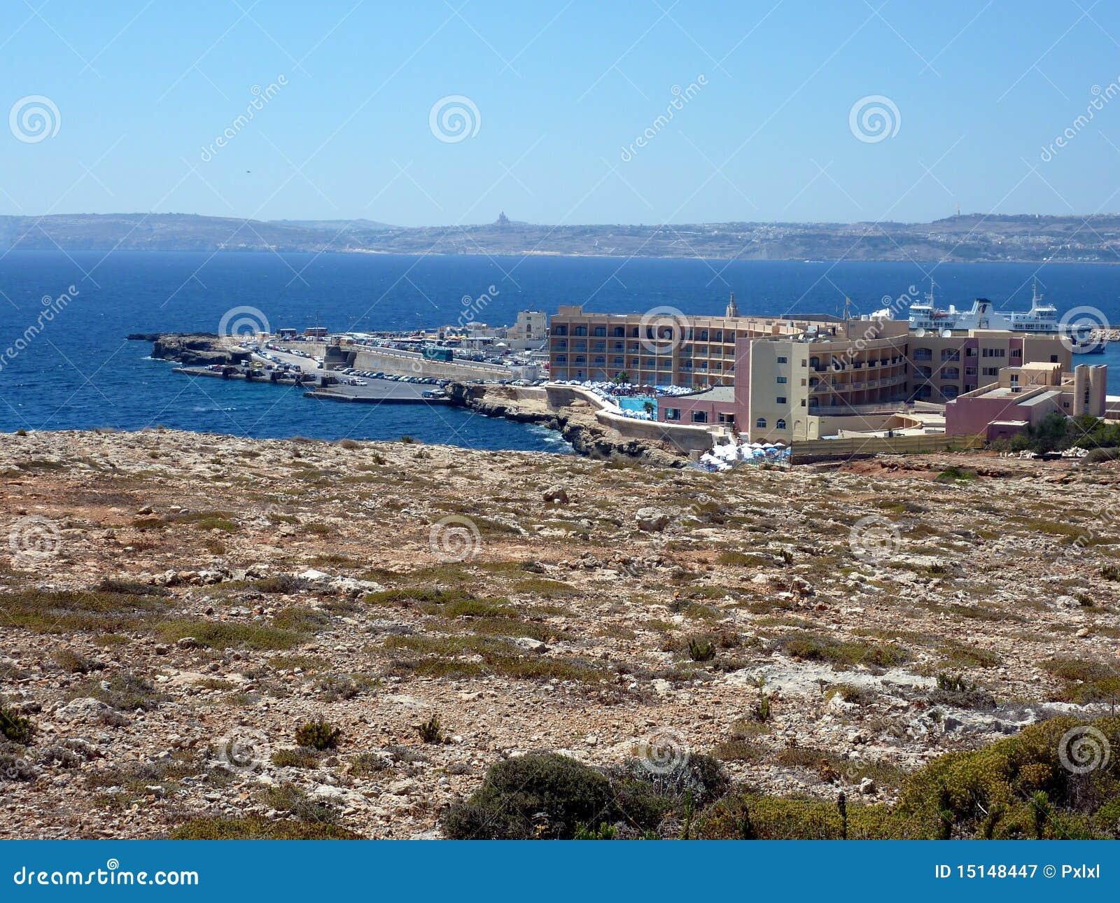 Cirkewwa Malta  city photo : Cirkewwa ferry terminal in the north of Malta island, Europe. Ferries ...