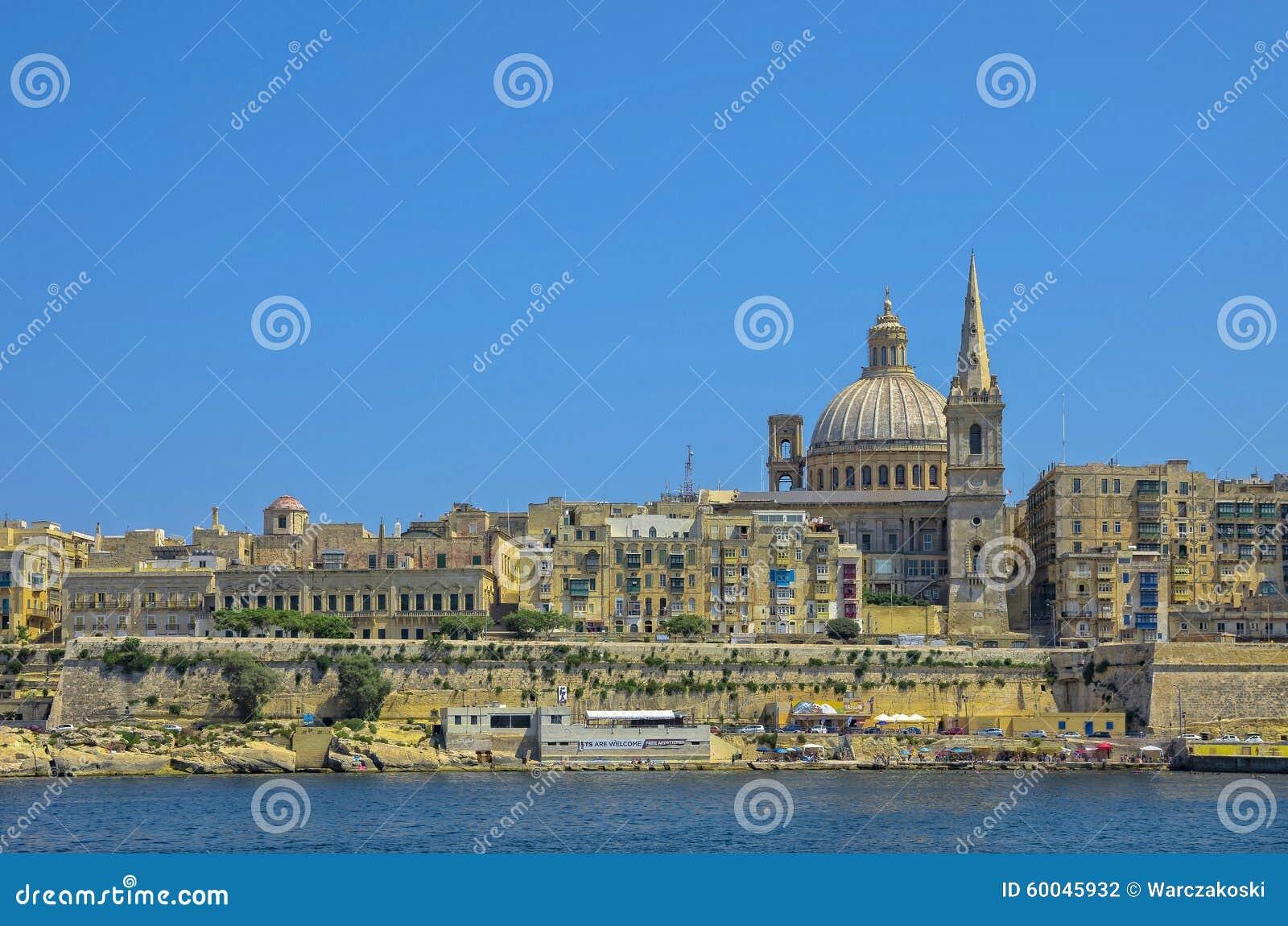 Malta sikter av Valletta