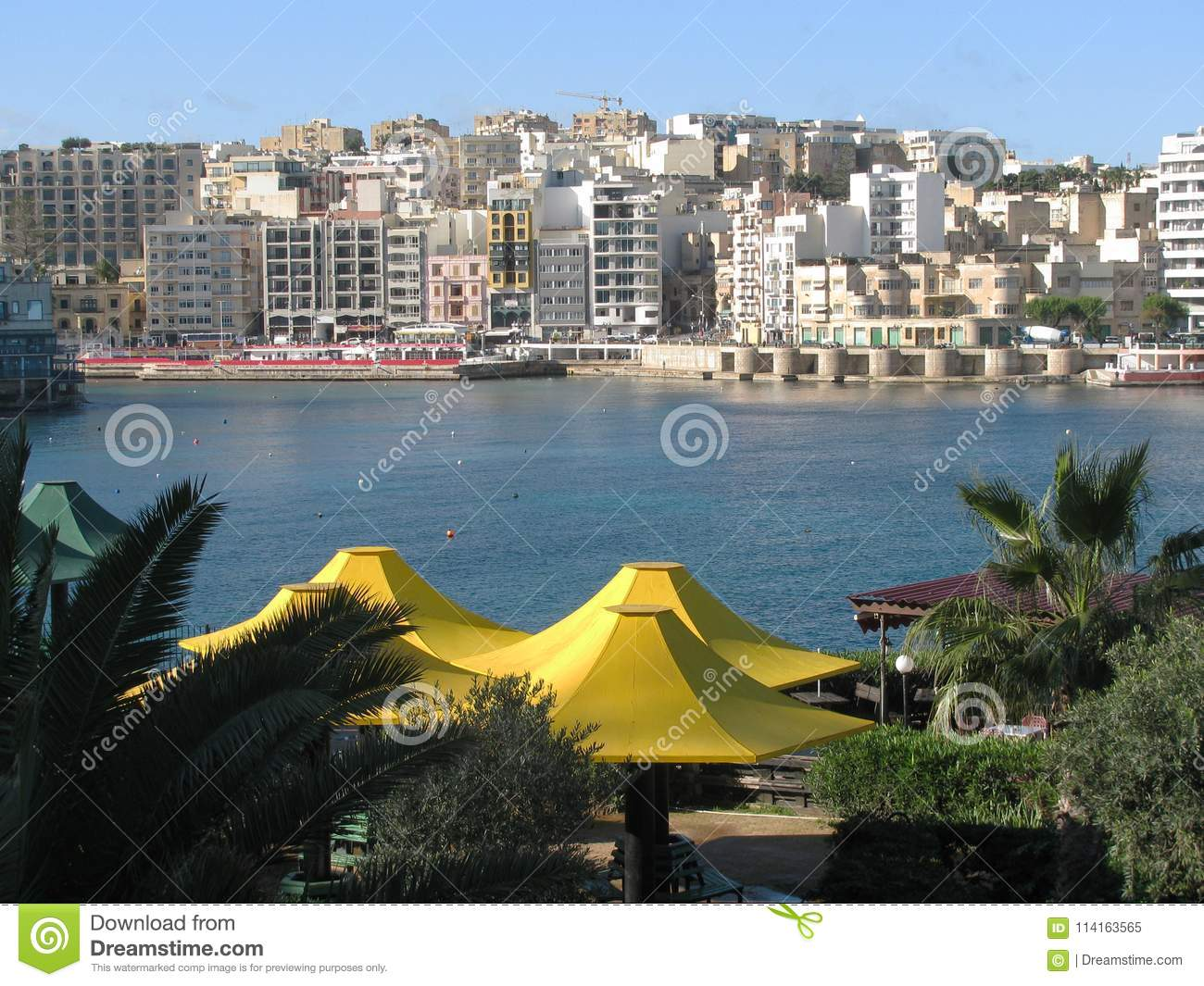 Chic Place malta. valletta. chic place for a pleasant stay. stock image - image