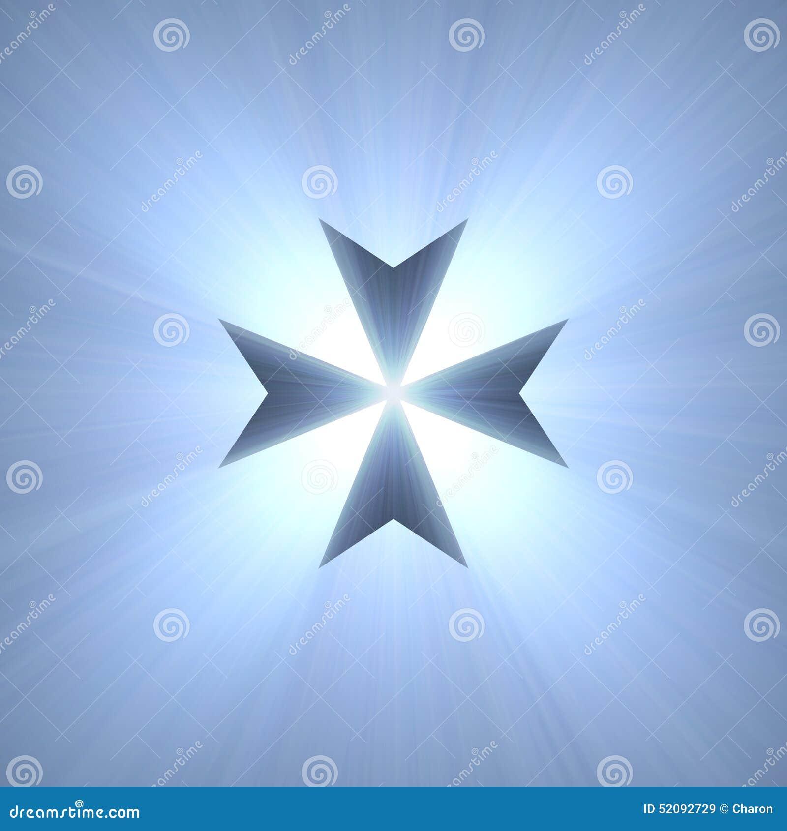 Maltese cross symbol blue light flare stock illustration image maltese cross symbol blue light flare biocorpaavc