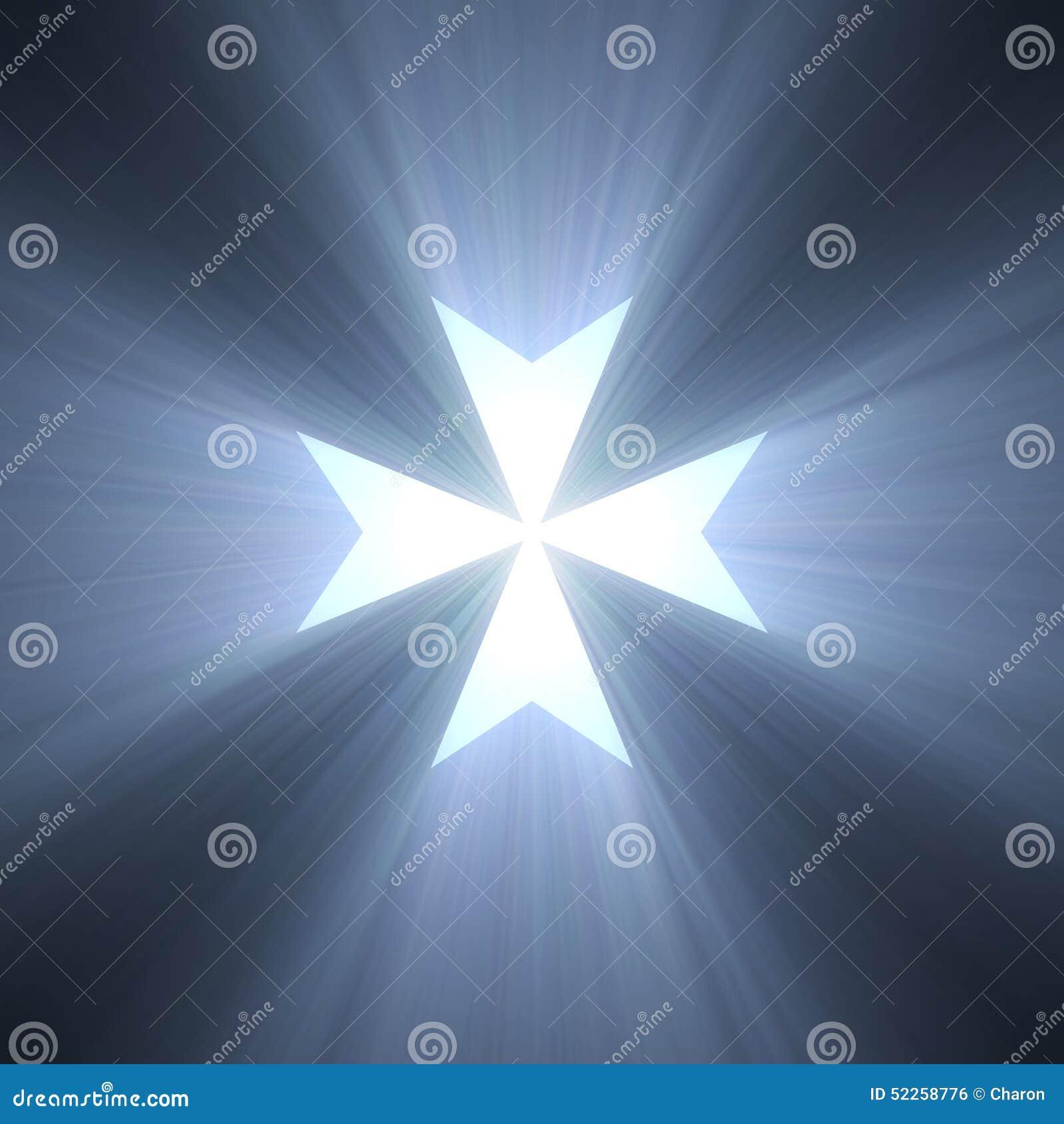 Maltese cross symbol blue light flare stock illustration maltese cross symbol blue light flare biocorpaavc