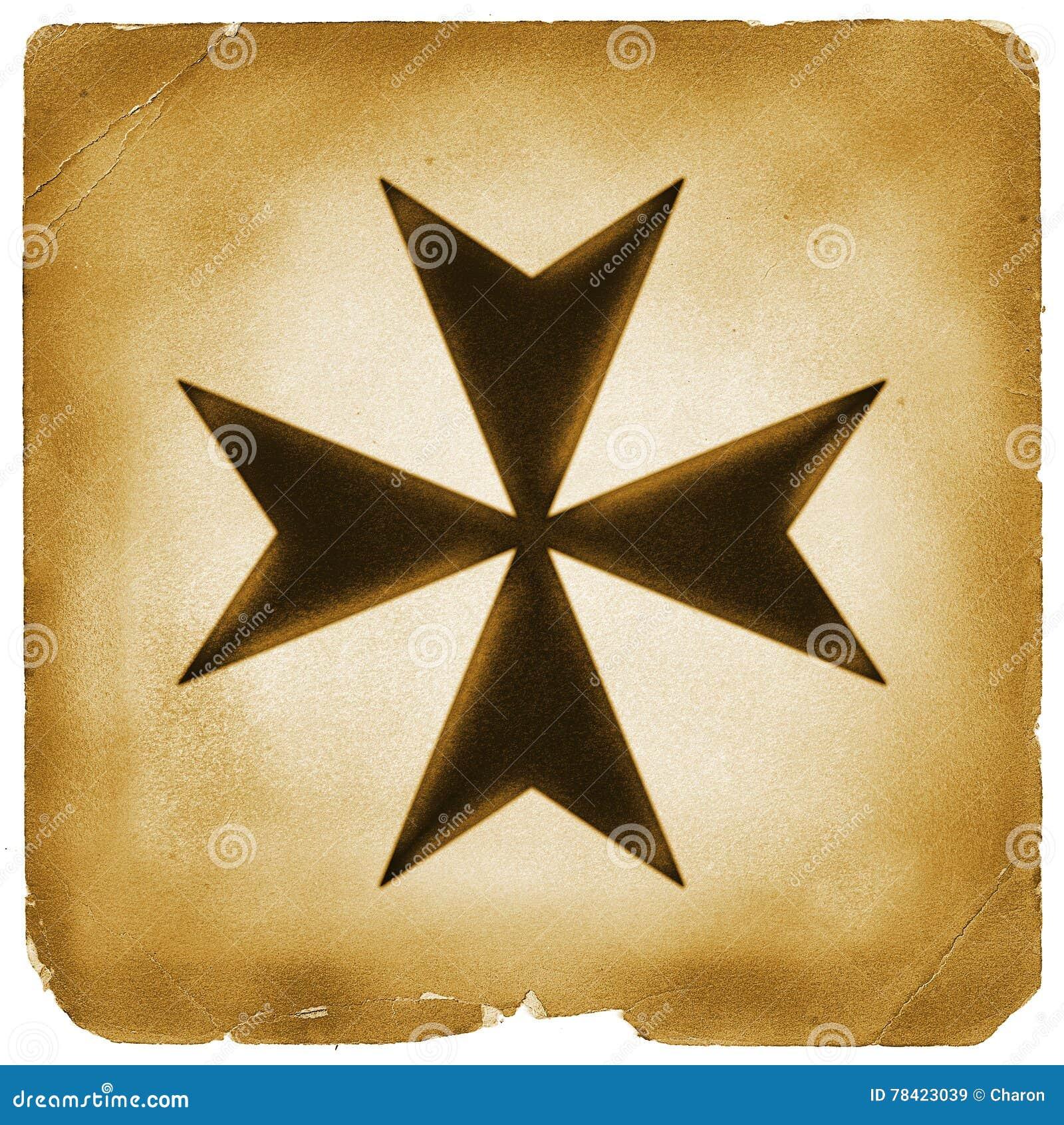 Maltese cross symbol on old paper stock illustration image 78423039 maltese cross symbol on old paper biocorpaavc