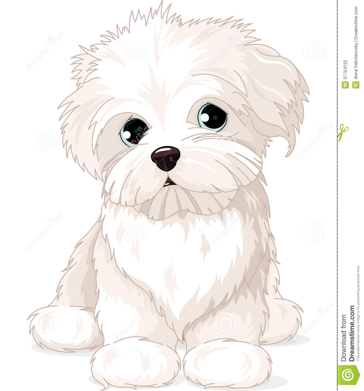 maltese puppy dog stock vector illustration of puppy 37754122 rh dreamstime com white boxer puppy clipart White Rabbit Clip Art