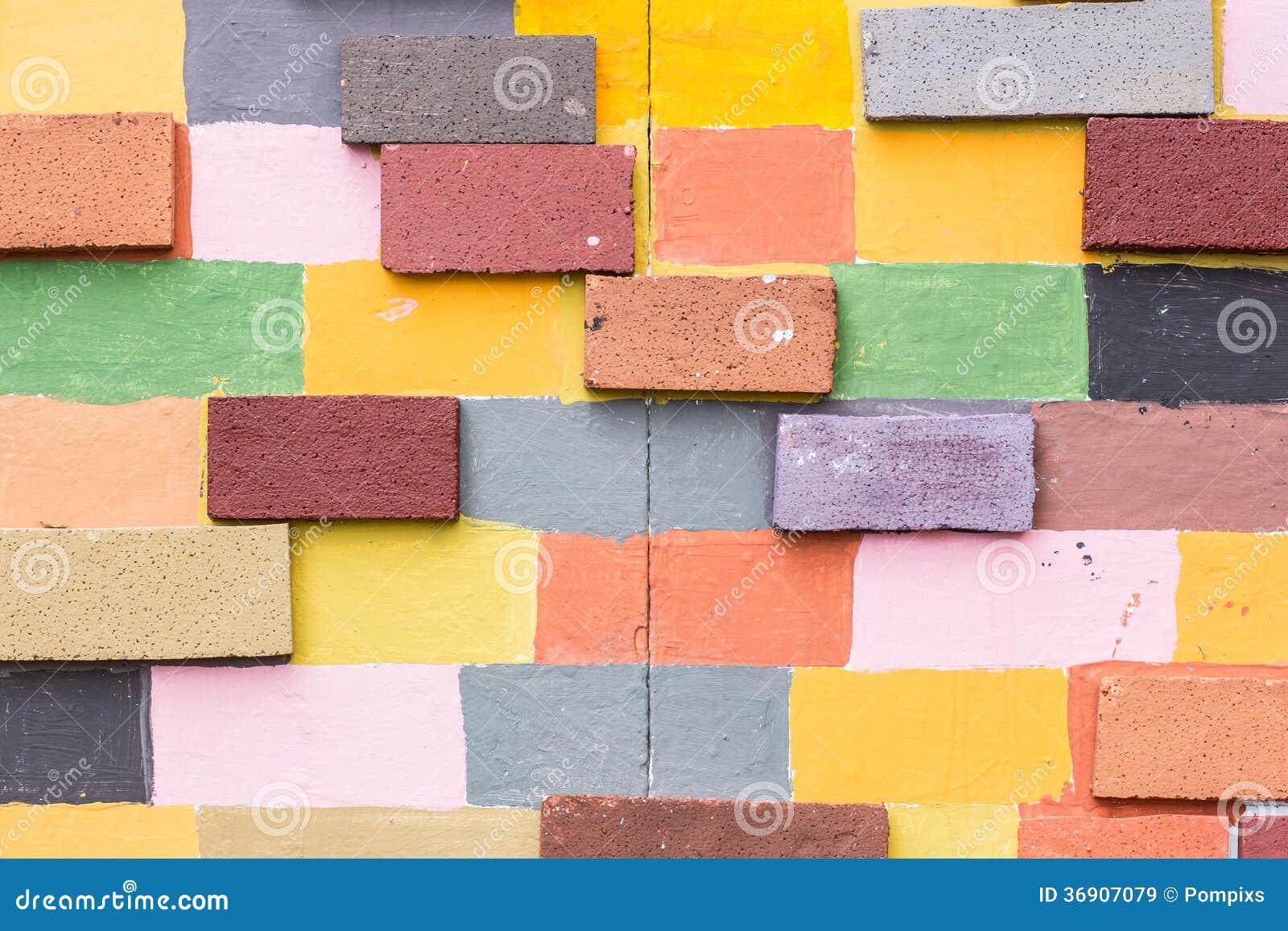 Malujący ściana z cegieł, tło/