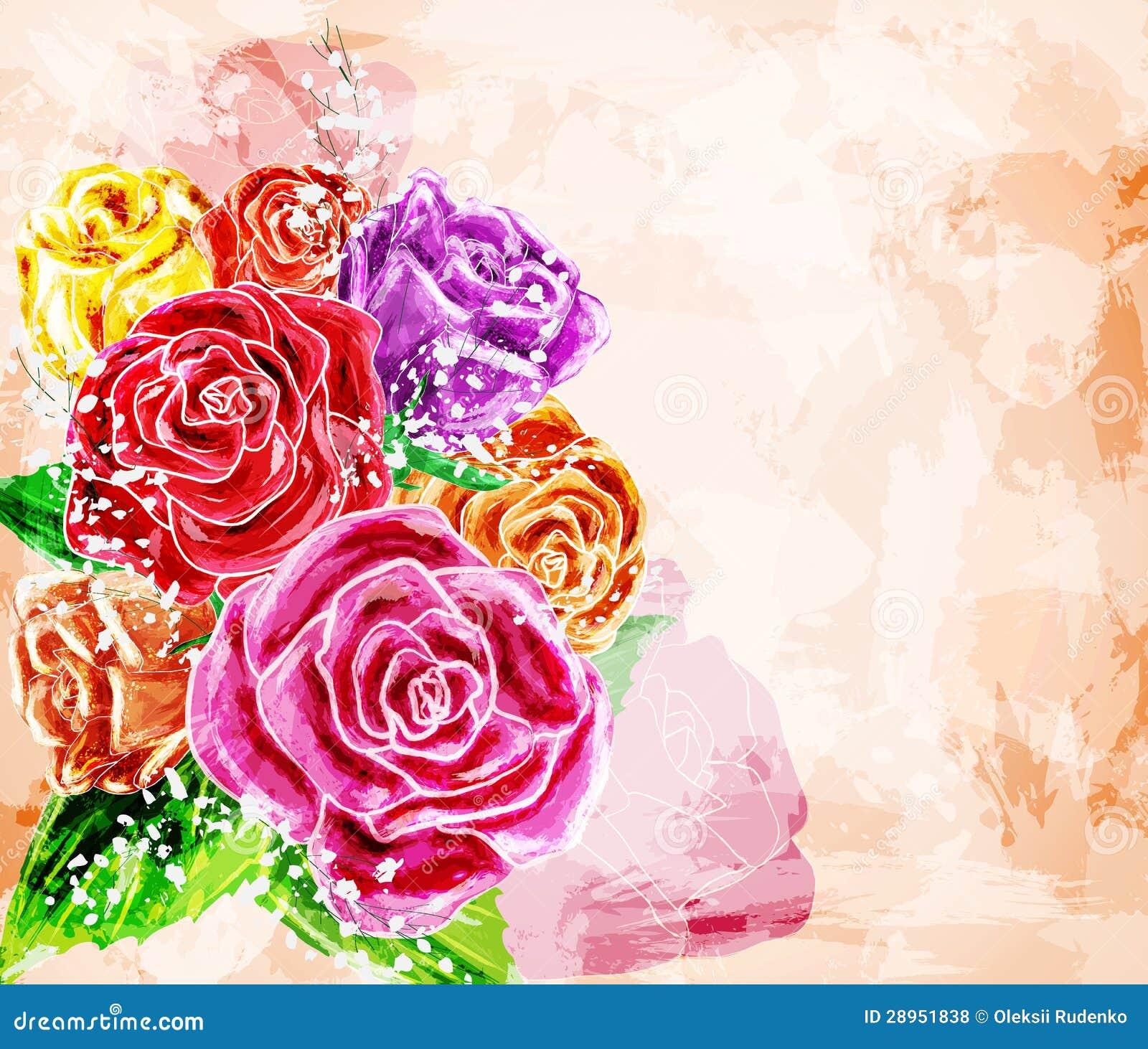 Malujący kwiatu tło