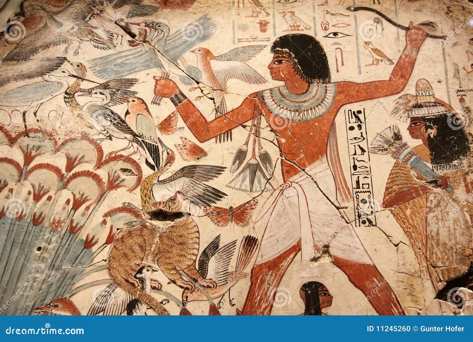 Malujący sztuka egipcjanin