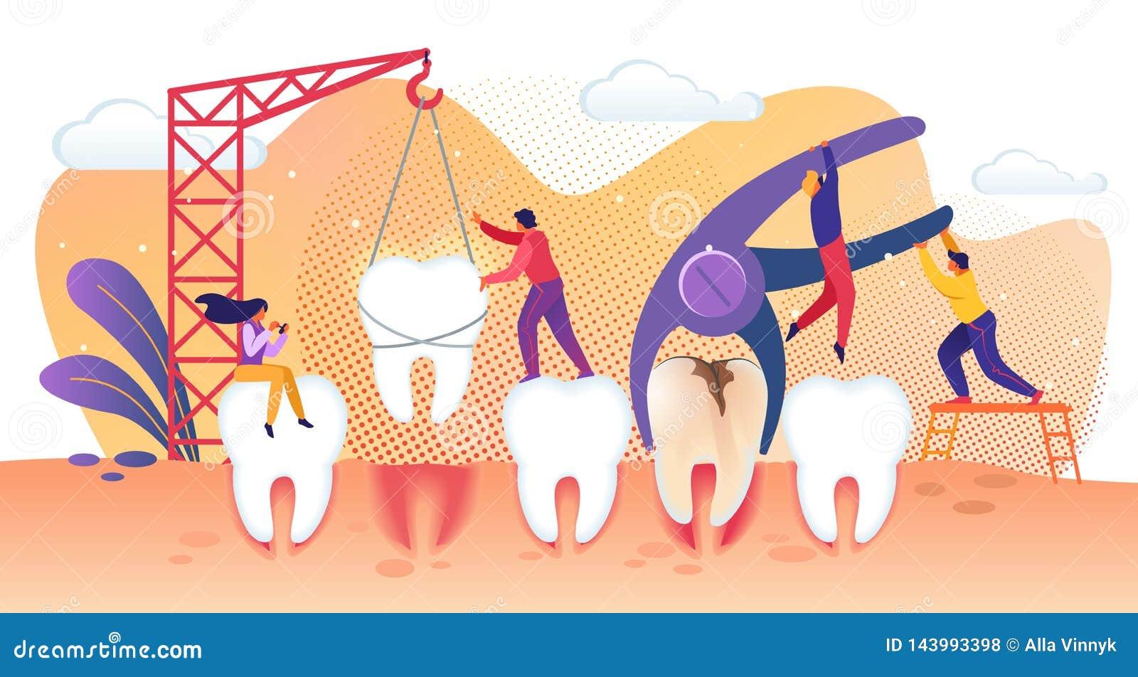 Malutcy ludzie charakterów Taktuje choroba zęby