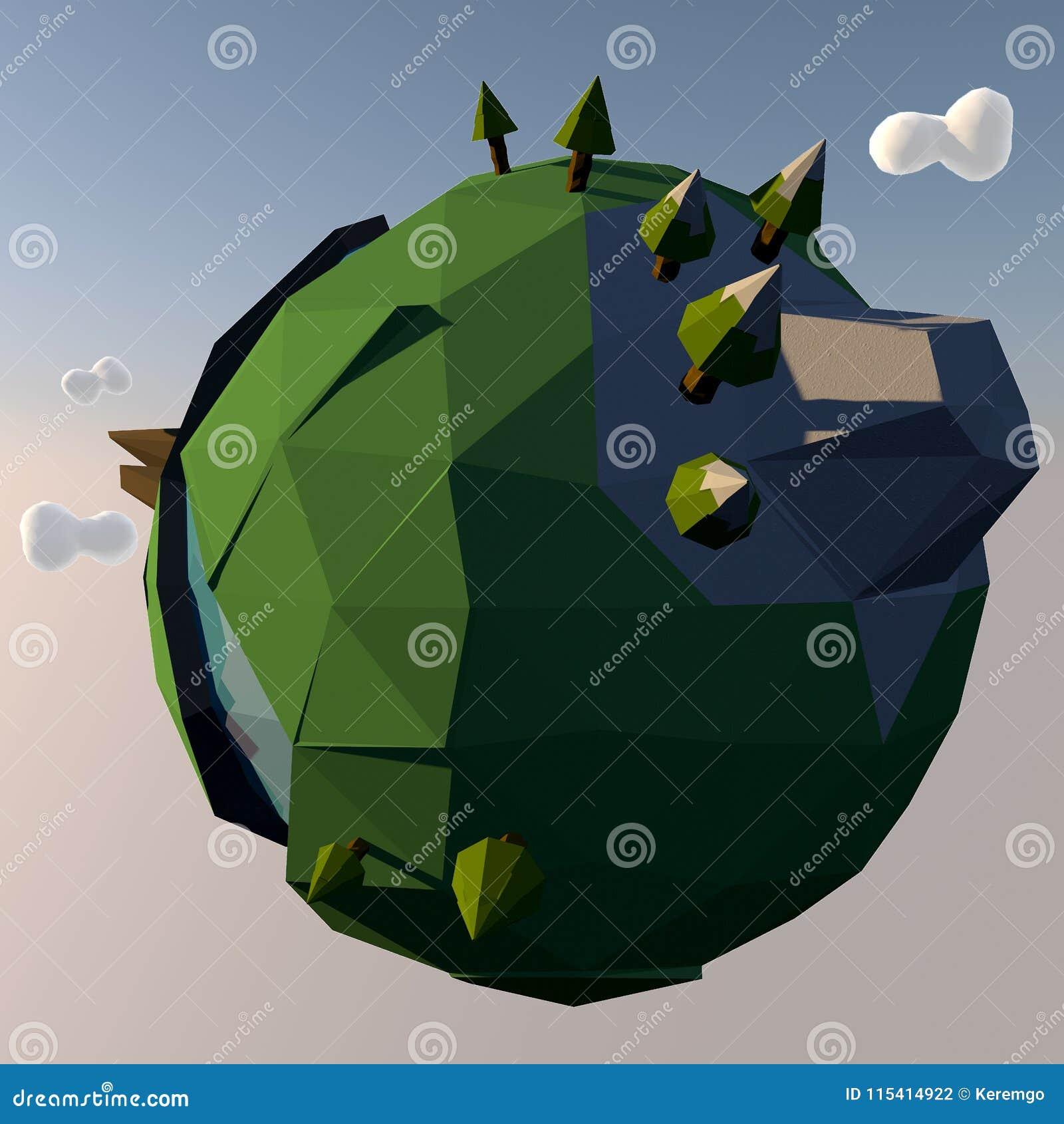 Malutka kreskówki planety ziemi ilustracja