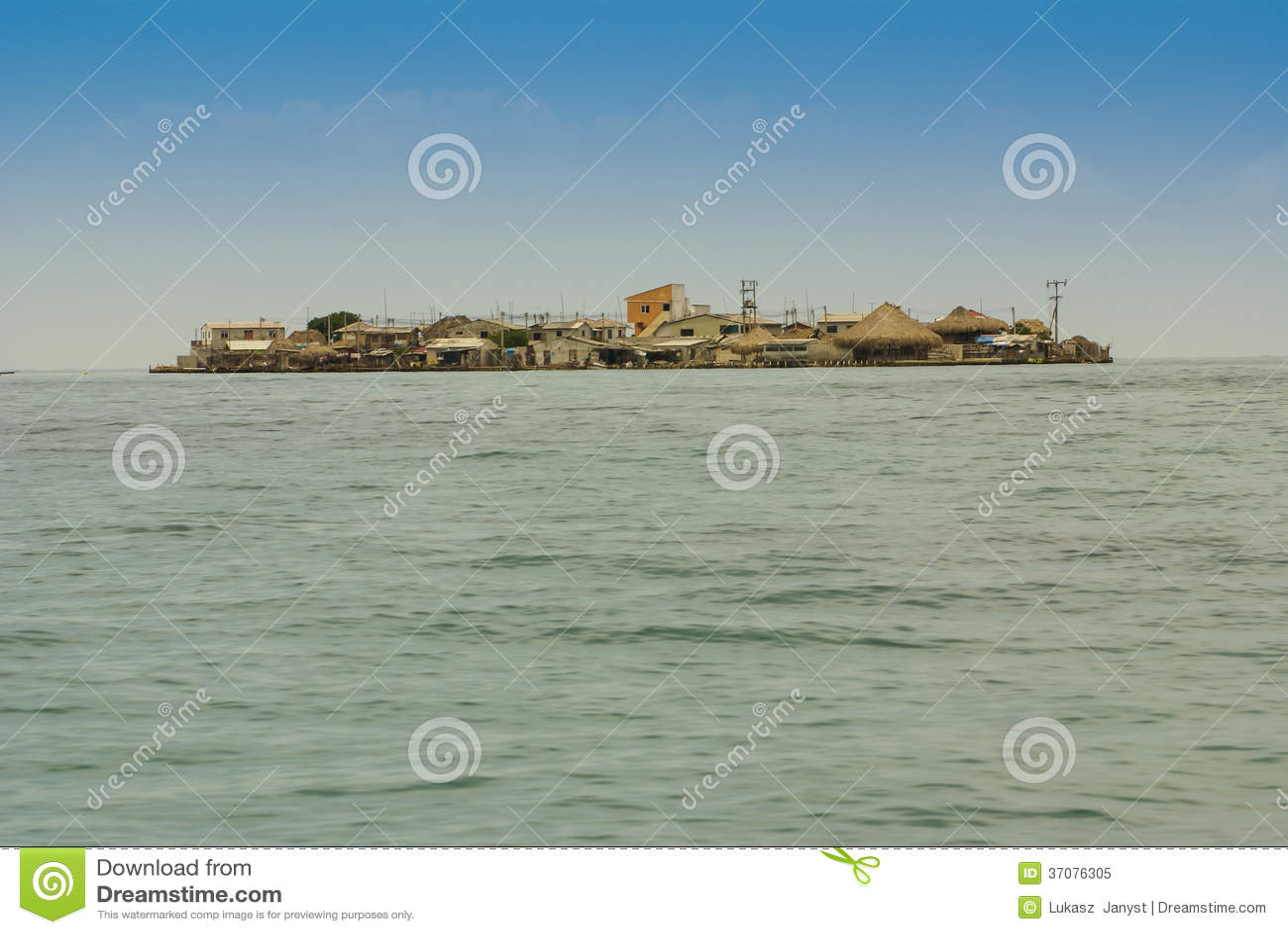 Download Malutka Wyspa W Karaibskim Archipelagu San Bernardo Blisko Tolu, Colombi Obraz Stock - Obraz złożonej z wyspy, historia: 37076305