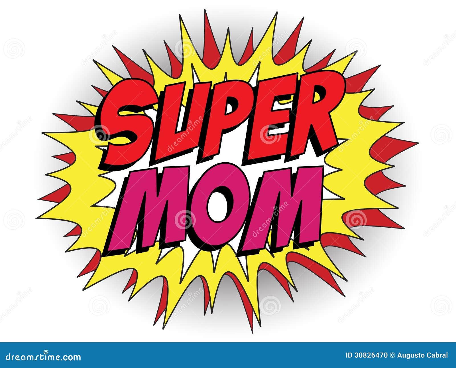 Mamá feliz del superhéroe del día de la madre