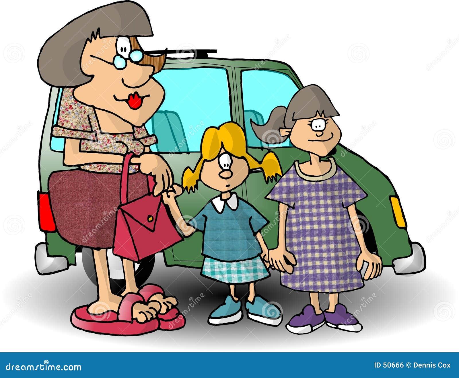 Mama y dos hijas