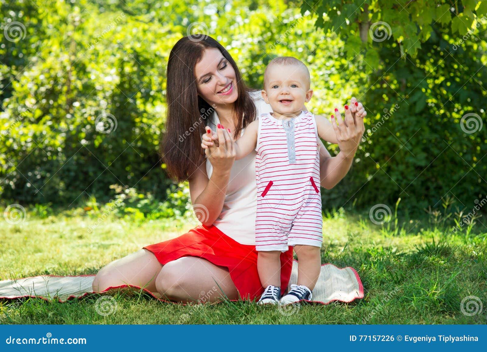 Maman avec la chéri
