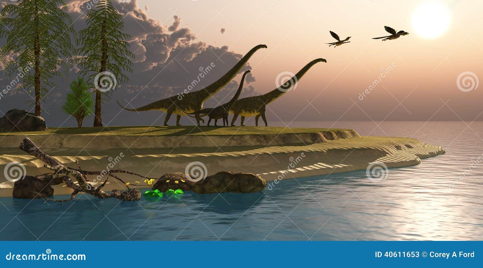 Mamenchisaurus dinosaura ranek